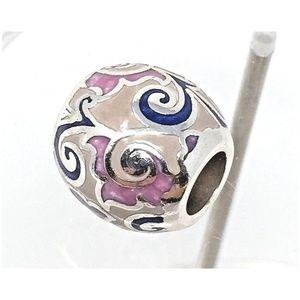 New Brighton DAMASCUS Silver Purple Lavender White Bead Charm MSRP $17